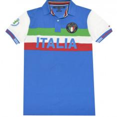 Tricou Tommy Hilfiger Custom Fit Italy M si L (reducere finala) - Tricou barbati Tommy Hilfiger, Marime: M, L, Culoare: Albastru, Maneca scurta, Bumbac