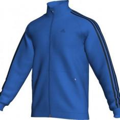 Bluza Adidas originala- Marimea XL - Bluza barbati Adidas, Culoare: Albastru, Cu fermoar, Bumbac