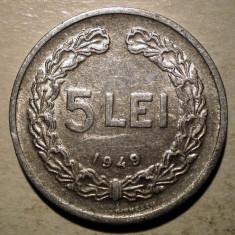 Monede Romania, An: 1949 - B.411 ROMANIA RPR 5 LEI 1949
