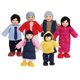 Papusa - Hape Familie de 6 membri (asiatici)
