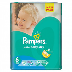 PAMPERS Scutece Active Baby 6 ExtraLarge Value Pack 42 buc - Scutece unica folosinta copii