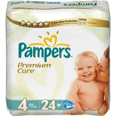 Scutece unica folosinta copii - PAMPERS Scutece Premium Care 4 Maxi Value Pack 24 buc