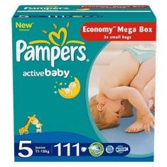 Scutece unica folosinta copii - PAMPERS Scutece Active Baby 5 Junior Mega Pack 111 buc