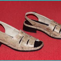 DE FIRMA _ Sandale din piele, comode, fiabile, calitate RICHTER _ femei | nr. 39 - Sandale dama Rieker, Marime: 40, Culoare: Bej, Piele naturala