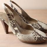 Pantofi dama - Pantofi slingback de la Il Passo, snake print