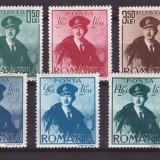 1940 - Carol II cu pelerina, serie neuzata cu sarniere