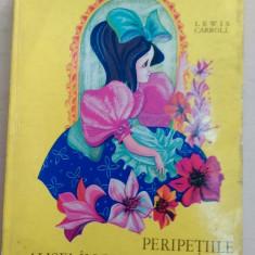 Carte de povesti - Peripetiile Alisei in lumea oglinzii -Lewis Carroll/ ilustratii Petre Vulcanescu