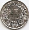 Monede Straine, Europa, An: 1963 - Elvetia 1/2 Franc 1963 Argint 2.5g/0.835 KM-23