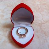 Inel Placat aur 18k cu Diamant Zirconiu Marcat BVLGARI - Poze Reale !