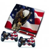 Skin  Autocolant  Sticker Playstation 3 PS3 Slim - America Bald Eagle (GameLand)