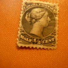 Timbru 1/2 Cent negru 1882 Canada , nestamp.fara guma