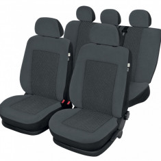 Husa Auto - Huse scaune Dacia Logan Sedan set huse auto fata si spate, Rubobostes - HSDL5284