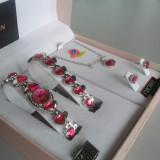 Set ceas cu bijuterii dama- NY LONDON - Diamond Collection -4 piese (cod:842)