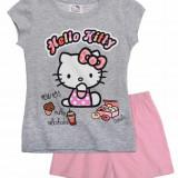 Pijama scurta 2-8 ani - Hello Kitty - art 87353 gri-roz