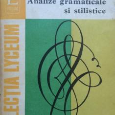 ANALIZE GRAMATICALE SI STILISTICE - Aurel Nicolescu