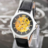 Ceas Luxury WINNER MECANIC Skeleton Full Automatic White Black W2 l CEL MAI MIC PRET GARANTAT| GARANTIE