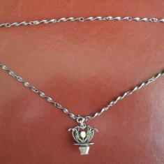 Lant de argint cu pandantiv vintage - Lantisor argint