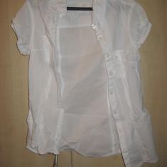 Camasa dama H&M (L.O.G.G.) 100% ORIGINALA Culoare Alba Marime S cumparata SUA, Marime: S, Maneca scurta, Bumbac