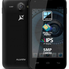 Telefon Allview, Negru, Neblocat - Allview A6 Quad