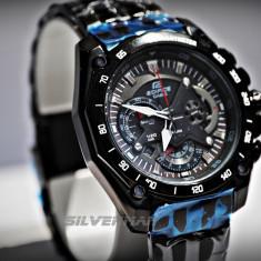 Casio EdificeCeas Barbatesc EF-550BK-1AV Negru, Sport, Quartz, Inox, Inox, Cronograf