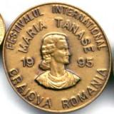 INSIGNA FESTIVALUL INTERNATIONAL MARIA TANASE CRAIOVA 1995 CONCURS MUZICA POPULARA