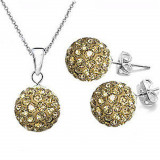 OFERTA! Lantisor cu pandantiv + Cercei stantati ARGINT 925 - Set bijuterii argint