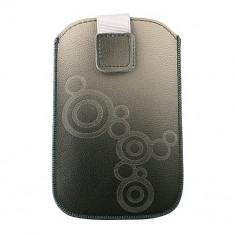 Husa, Gri, Piele Ecologica, Toc - Toc Lux Samsung Galaxy S2/S Gri