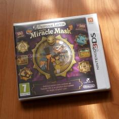 Jocuri Nintendo 3DS, Actiune - Joc Nintendo 3DS - Professor Layton and the Miracle Mask, nou, sigilat