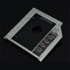 Caddy adaptor HDD SATA, 9.5mm 9.5 mm 9, 5mm dedicat Macbook Unibody - Suport laptop