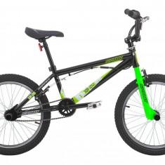 Bicicleta BMX, Sprint, XR, Otel, Negru-Alb-Verde, 20 Inch SPRINT