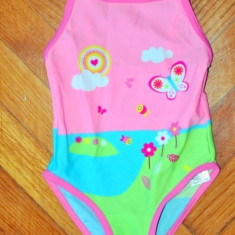 Haine Copii 1 - 3 ani, Costume de baie, Fete - Nou! Costum de baie vesel fluturasi, marca FF kids, fetite 12-18/ 86 cm