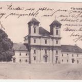 CARTE POSTALA CIRCULATA - ARAD - BISERICA, ANUL 1906, SCRISA SI TIMBRATA