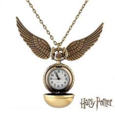Ceas Pandantiv Elegant Casual Harry Potter Quidditch Golden Snitch Pocket CALITATE GARANTATA   PESTE 3000 CALIFICATIVE POZITIVE   VANZATOR GOLD - Pandantiv inox