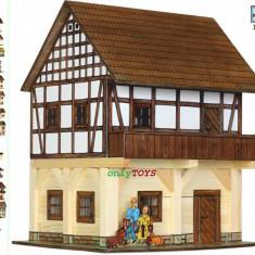 Jocuri Seturi constructie - Set constructie casa casuta casute din lemn GRANAR cu traverse case walachia log