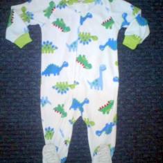 Haine Copii 1 - 3 ani, Pijamele, Baieti - Pijama micropolar dinozauri, marca CARTERS, baieti 18 luni