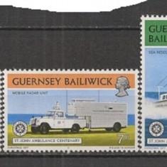 GUERNSEY 1977 – SERVICIUL DE AMBULANTA, MEDICINA, serie MNH D325 - Timbre straine