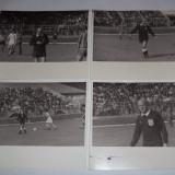 Patru fotografii meci Gloria Bistrita - Strungul Arad 1984 arbitru Virgil Antohi