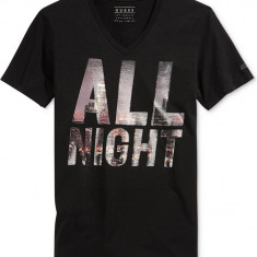 Tricou barbati Guess, Maneca scurta, Bumbac - Tricou GUESS All Night Graphic S M L ultima colectie