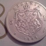 5 LEI  1880 ARGINT  DE COLECTIE  /8