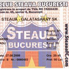 Bilet meci fotbal STEAUA BUCURESTI - GALATASARAY ISTANBUL 27.08.2008