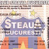 Bilet meci fotbal STEAUA BUCURESTI - DINAMO BUCURESTI 24.11.2007