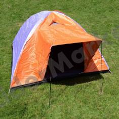 Cort camping pentru 4 persoane cu veranda 205x205x135 cm