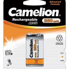 Acumulator Camelion 9V-Block HR6F22 250mAh 1 buc./bister - Baterie Aparat foto