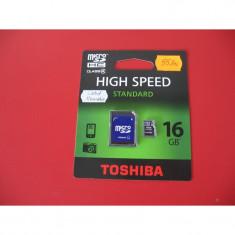 Card Memorie TOSHIBA Microsd 16Gb + Adaptor SD - PRODUS NOU