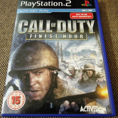 Jocuri PS2 Activision, Shooting, 16+, Single player - Joc Call of Duty Finest Hour, PS2, original, 28.99 lei(gamestore)!