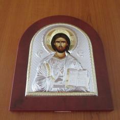 Icoana din metal - Icoana argintata Mantuitorul Iisus Hristos
