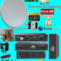 Sistem complet satelit - Antena Rulota/Camping cu wifi