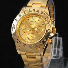 Ceas barbatesc Rolex, Elegant, Quartz, Placat cu aur, Placat cu aur, Rezistent la apa - CEAS ROLEX DAYTONA OYSTER PERPETUAL-GOLD-SUPERB-PRET IMBATABIL-CALITATEA 1-SALE