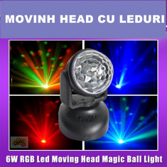NOU 2015! MOVING HEAD DISCO CU LEDURI SMD, ACTIVARE LA SUNET, AUTOMAT, TELECOMANDA. - Moving heads club