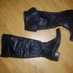 Cizme dama - Cizme de piele lungi peste genunchi